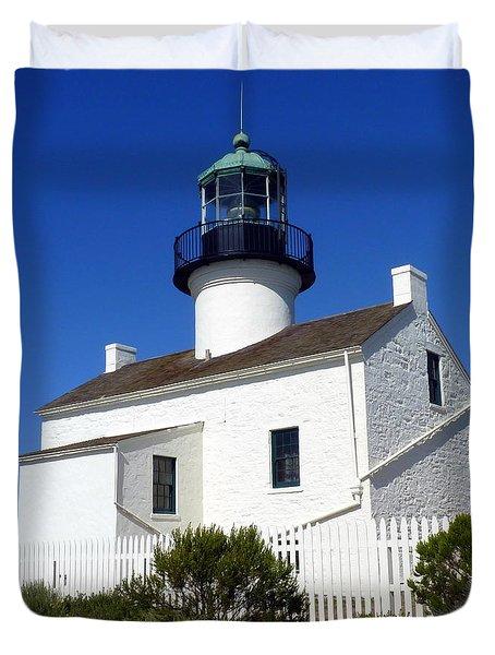 Pt. Loma Lighthouse Duvet Cover by Carla Parris