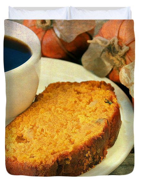 Pumpkin Bread And Coffee Duvet Cover by Darren Fisher