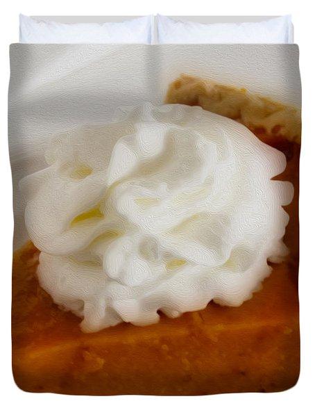 Pumpkin Pie Duvet Cover by Cheryl Young
