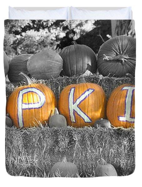 Pumpkins P U M P K I N S Bwsc Duvet Cover by James BO  Insogna
