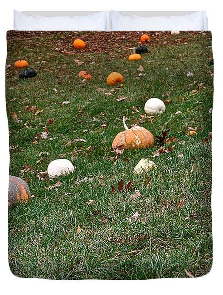 Pumpkins Duvet Cover by Susan Herber