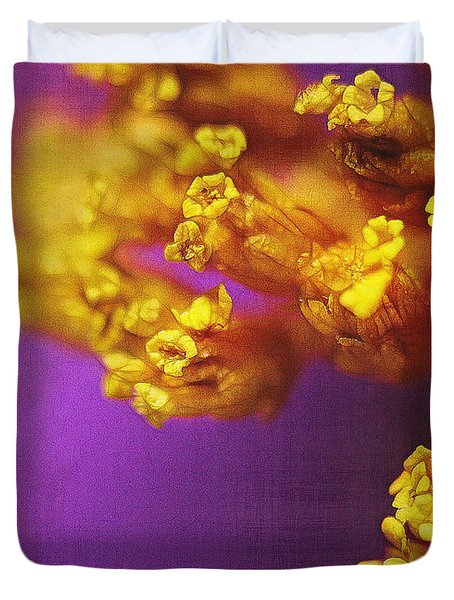 Purple And Gold 2 Duvet Cover by Judi Bagwell