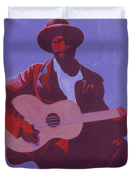 Purple Blues Duvet Cover by Kaaria Mucherera