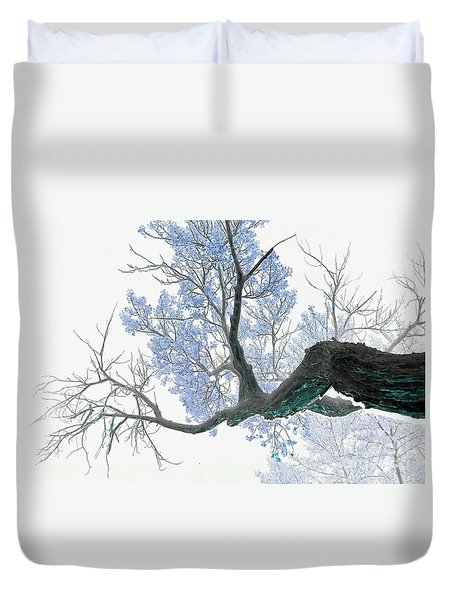 Purple Tree 1 Duvet Cover by Rebecca Margraf
