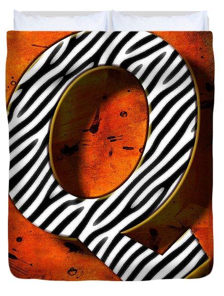 Q Duvet Cover by Mauro Celotti