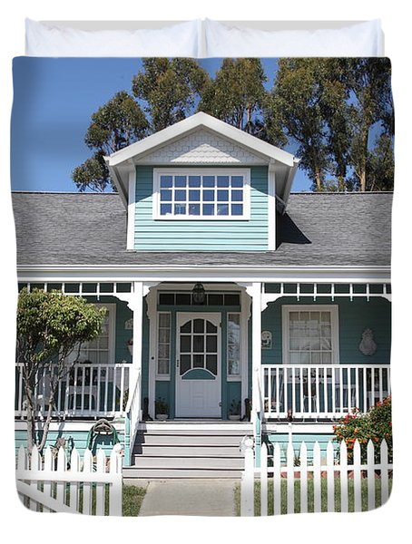 Quaint House Architecture - Benicia California - 5D18817 Duvet Cover by Wingsdomain Art and Photography