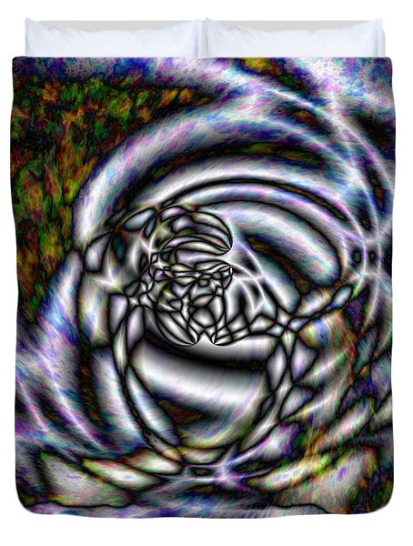 Quazar Storm Duvet Cover by Christopher Gaston