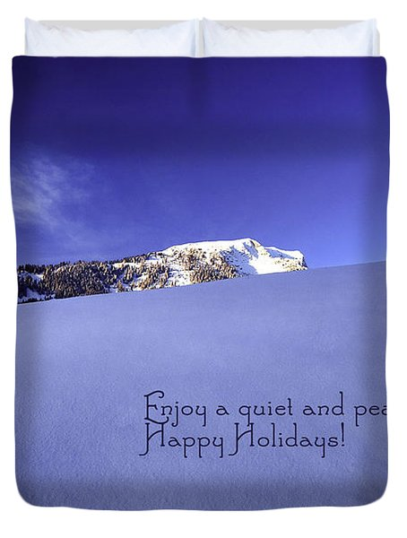 Quiet And Peaceful Christmas Duvet Cover by Sabine Jacobs