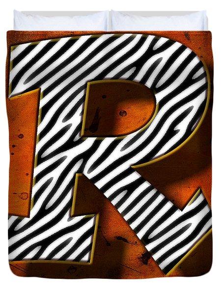 R Duvet Cover by Mauro Celotti