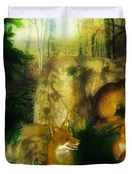 Rabbit Season Duvet Cover by Bill Cannon