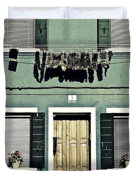 rags in Venice Duvet Cover by Joana Kruse