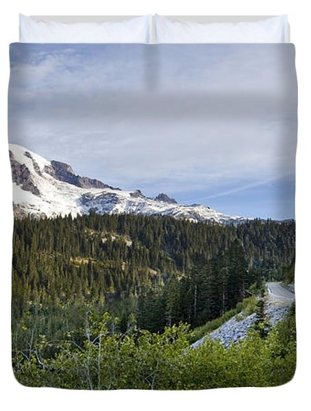 Rainier Journey Duvet Cover by Mike Reid