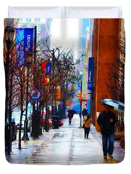 Rainy Day Feeling Duvet Cover by Bill Cannon