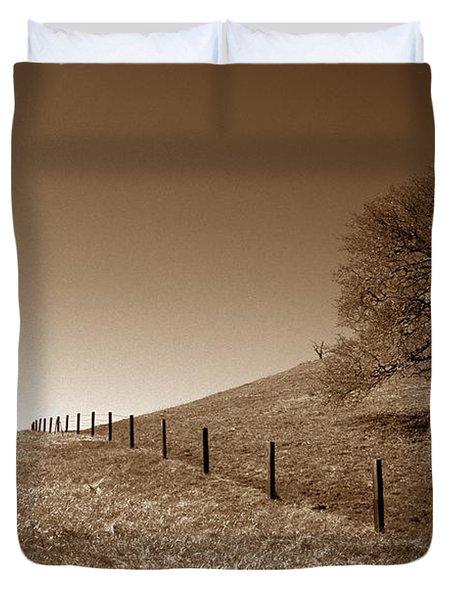 Ranch Road Oak Duvet Cover by Kathy Yates
