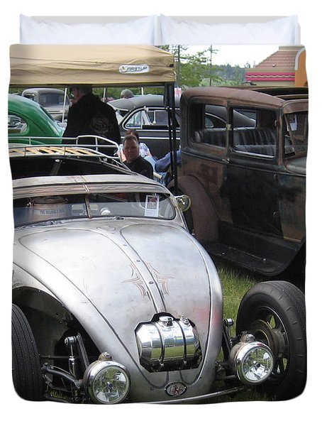 Rat Rod Many Parts Duvet Cover by Kym Backland
