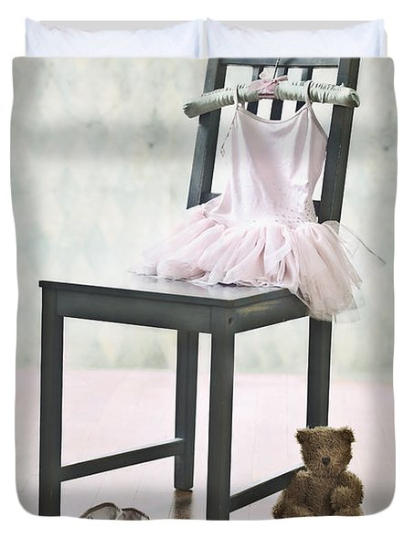 Ready For Ballet Lessons Duvet Cover by Joana Kruse