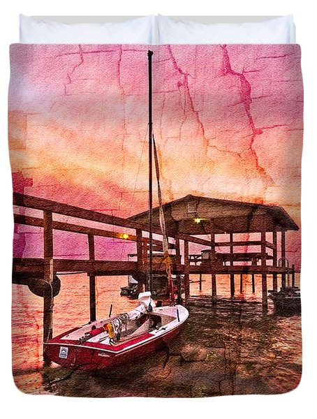 Ready To Sail Duvet Cover by Debra and Dave Vanderlaan