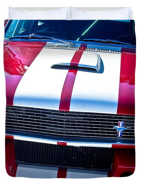 Red 1966 Mustang Shelby Duvet Cover by James BO  Insogna