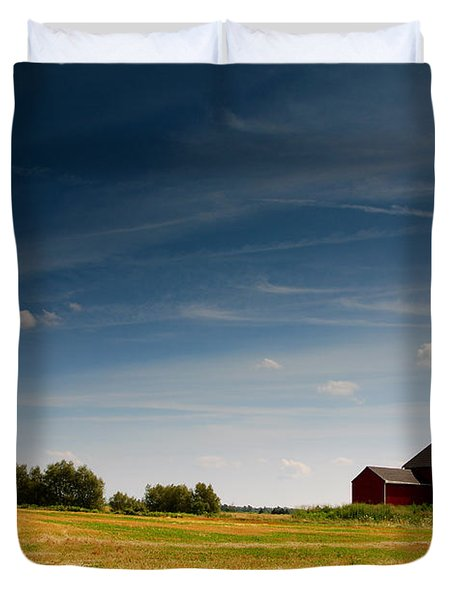 Red Barn Duvet Cover by Cale Best