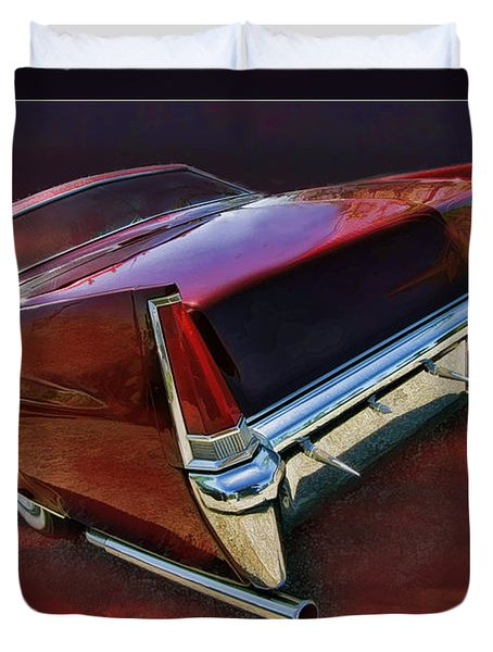Red Cadillac Duvet Cover by Blake Richards