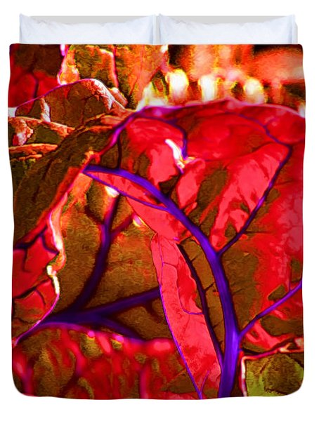 Red Chard Duvet Cover by Rory Sagner