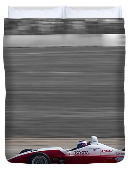 Red Racer Duvet Cover by Darcy Michaelchuk