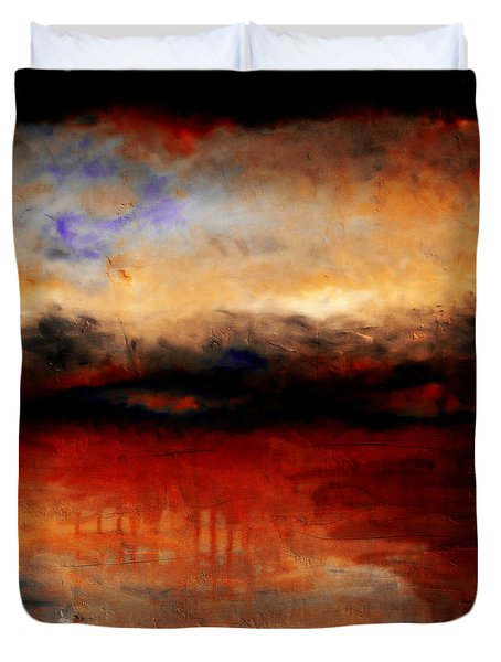 Red Skies At Night Duvet Cover by Michelle Calkins