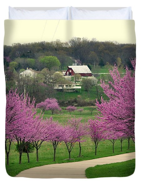 Redbud Duvet Cover by Marty Koch