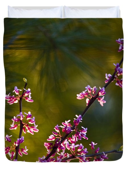 Redbud Duvet Cover by Rob Travis
