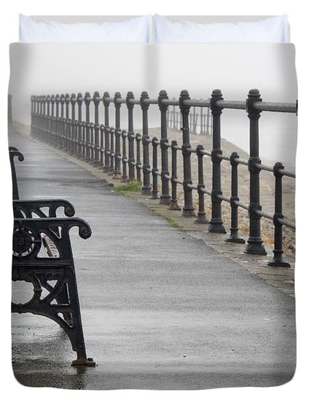 Redcar, North Yorkshire, England Row Of Duvet Cover by John Short