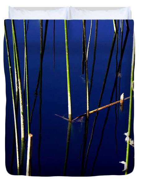 Reeds Of Reflection Duvet Cover by Chris Brannen
