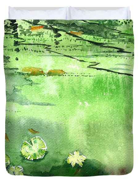 Reflections 1 Duvet Cover by Anil Nene