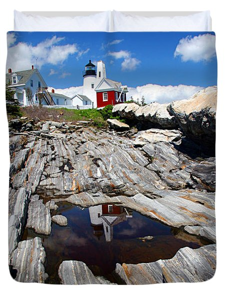 Reflections of Pemaquid Duvet Cover by Brenda Giasson