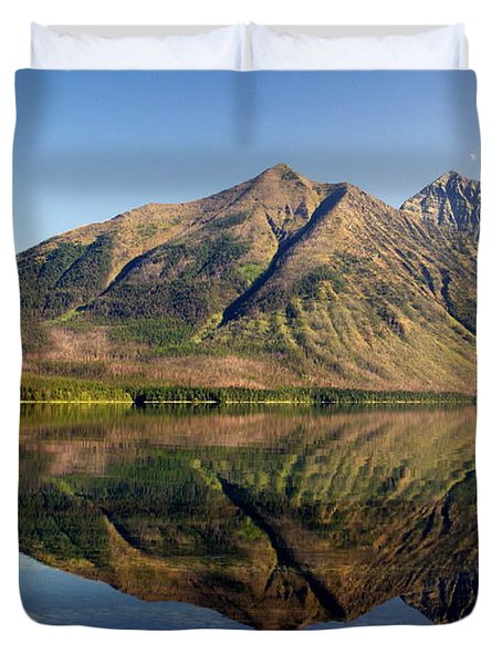 Reflections On Lake Mcdonald Duvet Cover by Marty Koch