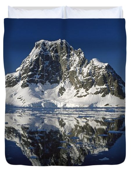 Reflections With Ice Duvet Cover by Antarctica