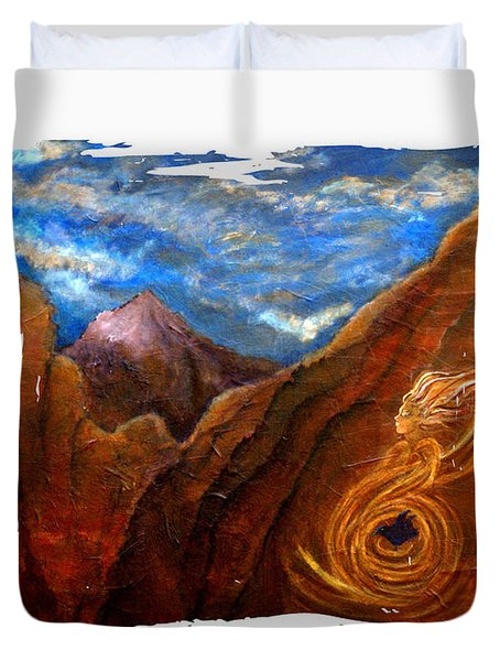 Reiki Healing Art Of The Sedona Vortexes Duvet Cover by The Art With A Heart By Charlotte Phillips