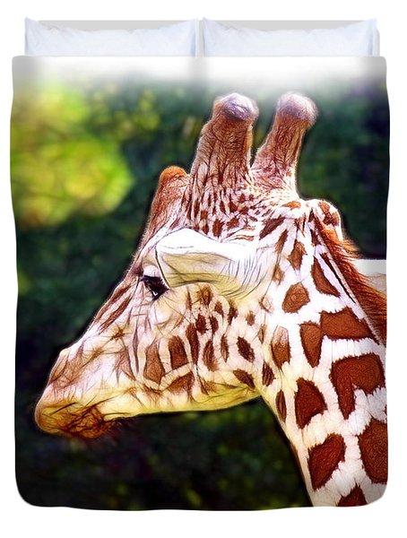 Reticulated Giraffe Duvet Cover by Judi Bagwell