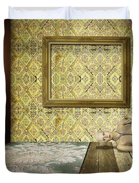 retro room interior Duvet Cover by Setsiri Silapasuwanchai