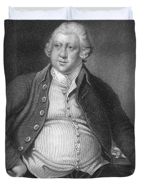 Richard Arkwright, English Industrialist Duvet Cover by Photo Researchers