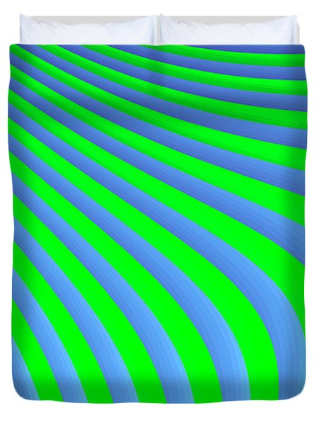 Riding The Wave Duvet Cover by Carolyn Marshall