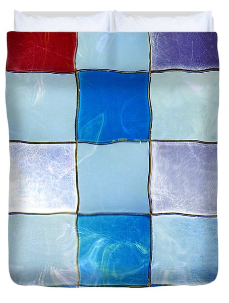 Ripple Tiles Duvet Cover by Carlos Caetano