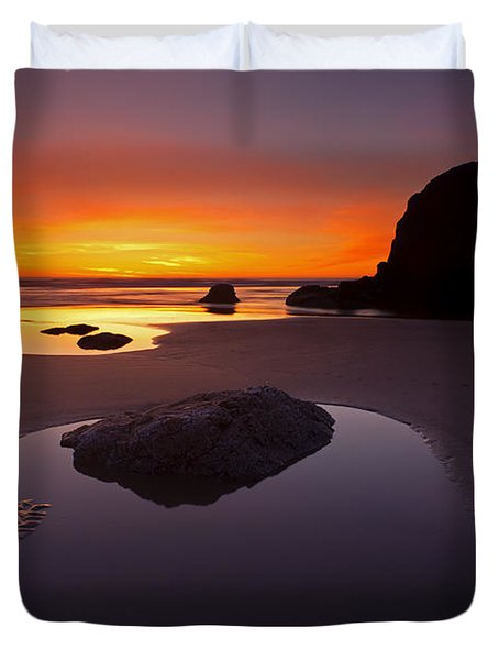 Ripples And Reflections Duvet Cover by Mike  Dawson