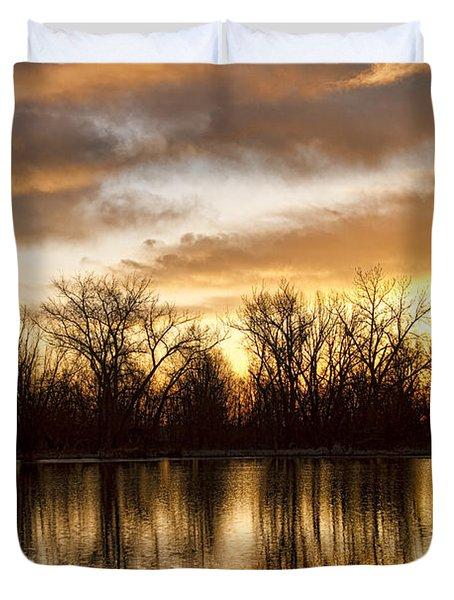 Rising Sun At Crane Hollow Duvet Cover by James BO  Insogna