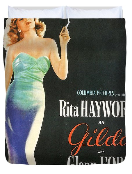 Rita Hayworth as Gilda Duvet Cover by Nomad Art And  Design
