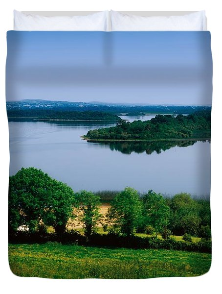 River Cruising, Upper Lough Erne Duvet Cover by The Irish Image Collection