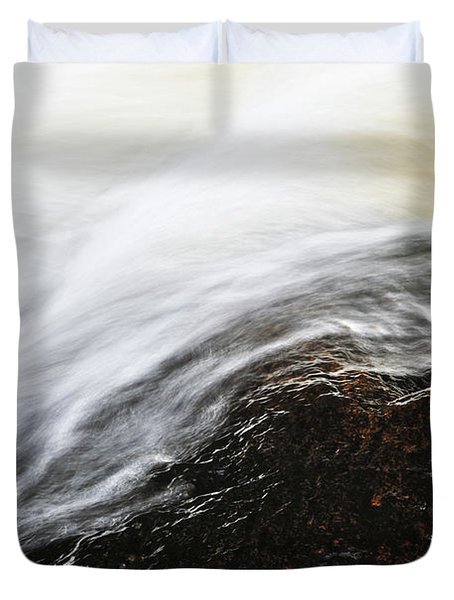 River In Fall Duvet Cover by Elena Elisseeva