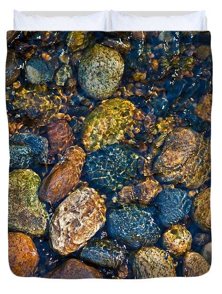 River Rock Duvet Cover by Karol Livote