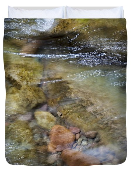 River Rocks Duvet Cover by Jenna Szerlag