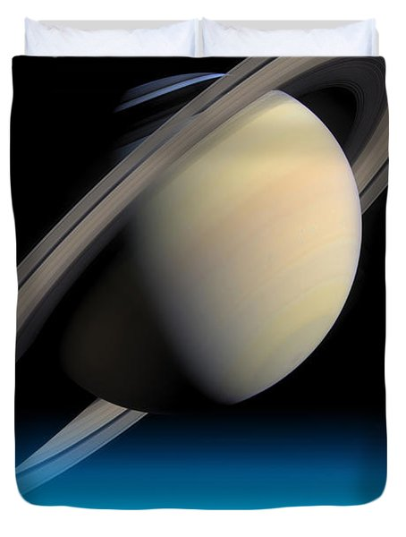 Road To Saturn Duvet Cover by Larry Landolfi and Photo Researchers