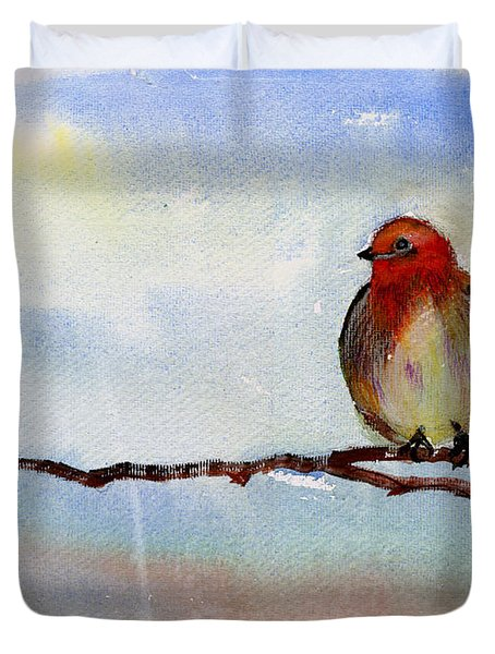 Robin 1 Duvet Cover by Anil Nene